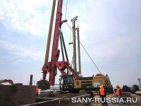 SANY SR360 на строительстве моста