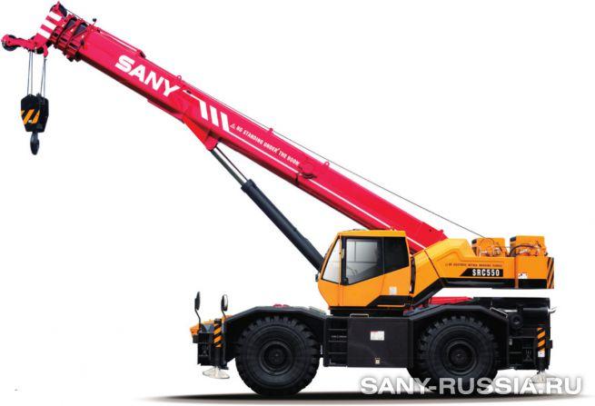 Кран самоходный колёсный SANY SRC550