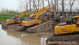 Экскаватор болотоходный SANY SY205C-8