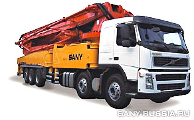 Автобетононасос SANY SYG5502THB-62