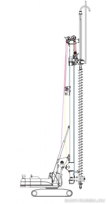 Буровая установка SANY со шнековым буром