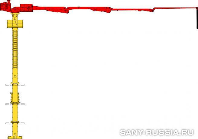 Бетонораспределительная стрела SANY HGR28 II