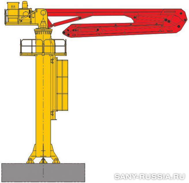 Общий чертёж бетонораспределительной стрелы SANY HGT24-L