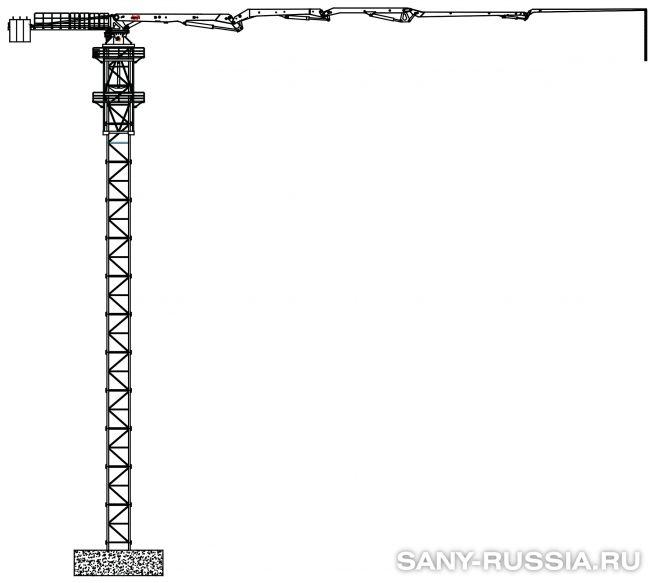 Бетонораспределительная стрела башенного типа SANY HGT39