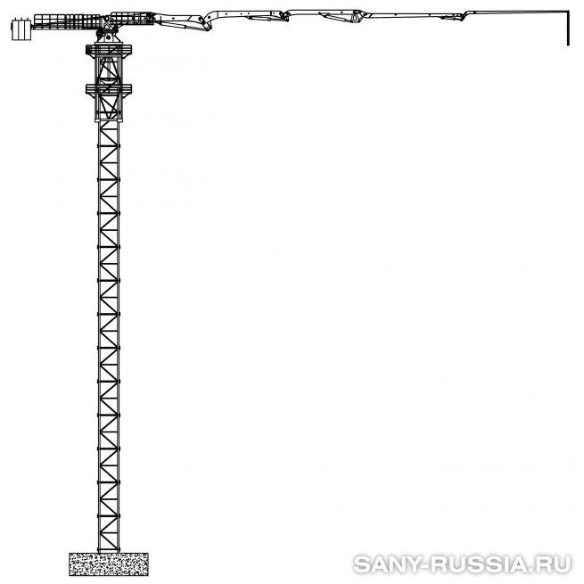 Бетонораспределительная стрела башенного типа SANY HGT41