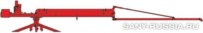 Общий чертёж мобильной интегральной бетонораспределительной стрелы SANY HGY15