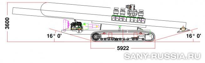 Буровая установка горизонтального бурения SANY SD2000