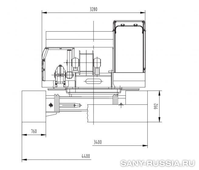 Сваебойная установка SANY SF558