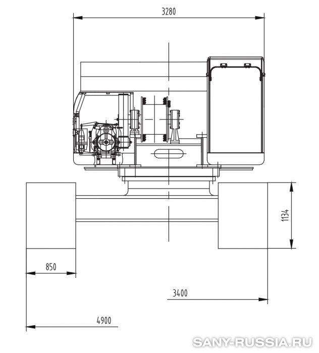 Сваебойная установка SANY SF808 III