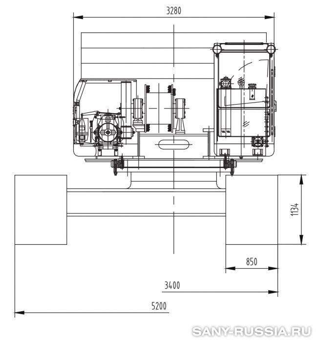 Сваебойная установка SANY SF818