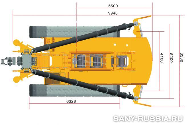 Сваебойная установка SANY SFY758
