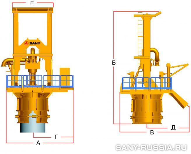Пневматическая буровая установка обратной циркуляции воздуха (RCD)