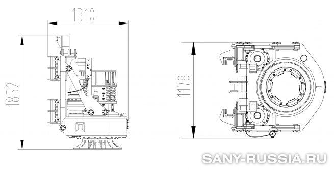Привод ротора буровой установки SANY SR100