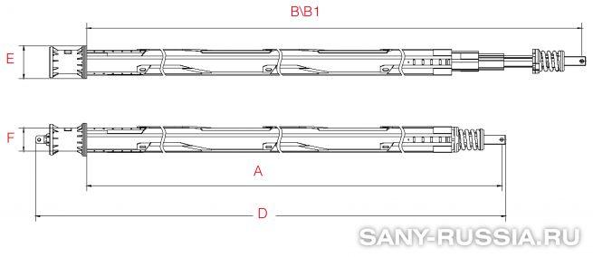 Фрикционная келли-штанга для SANY SR100