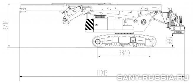 Буровая установка SANY SR100 в транспортном положении