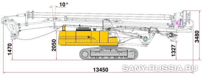 Буровая установка SANY SR110 в транспортном положении
