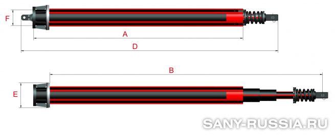 Фрикционная келли-штанга для SANY SR120