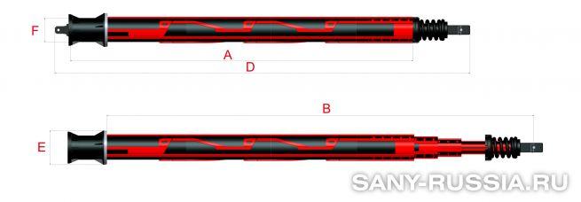 Келли-штанга замкового типа для SANY SR120