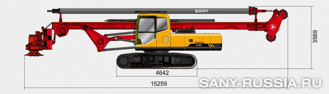 Буровая установка SANY SR120 с келли-штангой