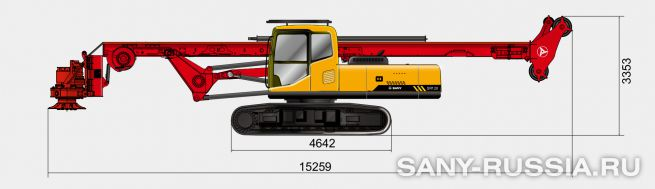 Буровая установка SANY SR120 без келли-штанги