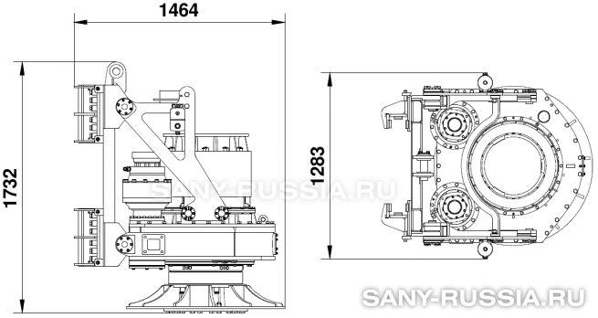 Привод ротора буровой установки SANY SR150C