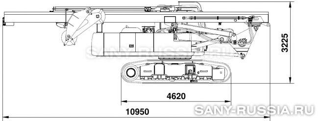 Буровая установка SANY SR150C в транспортном положении (без привода ротора)