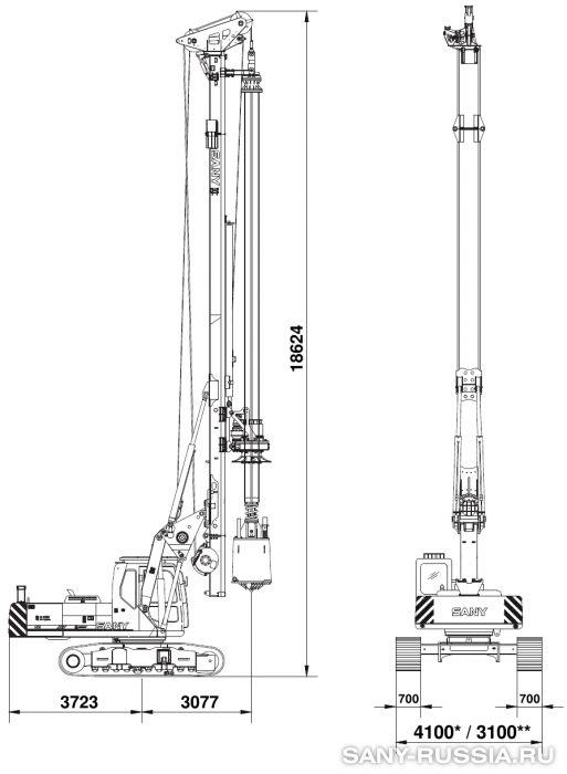 Буровая установка SANY SR150M с келли-штангой