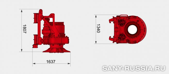 Привод ротора буровой установки SANY SR180