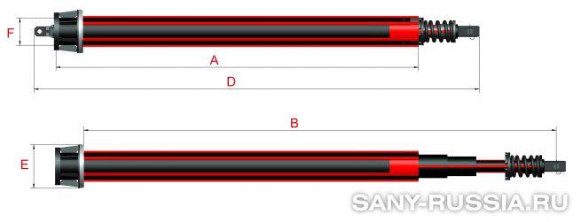Фрикционная келли-штанга для SANY SR180