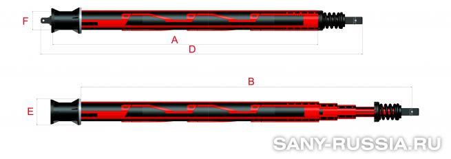 Келли-штанга замкового типа для SANY SR180