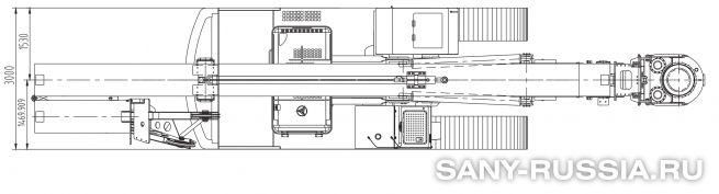 Буровая установка с электроприводом SANY SR200D в транспортном положении