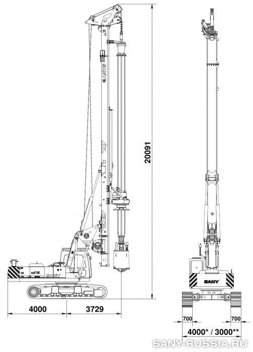 Буровая установка SANY SR200M с келли-штангой