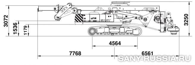 Буровая установка SANY SR200M в транспортном положении