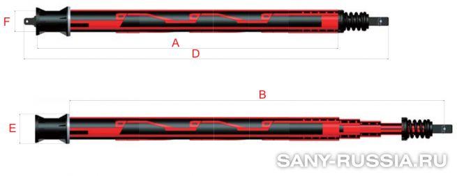 Келли-штанга замкового типа для SANY SR250