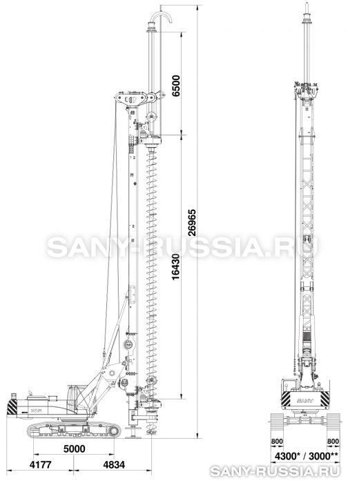 Буровая установка SANY SR250M CFA