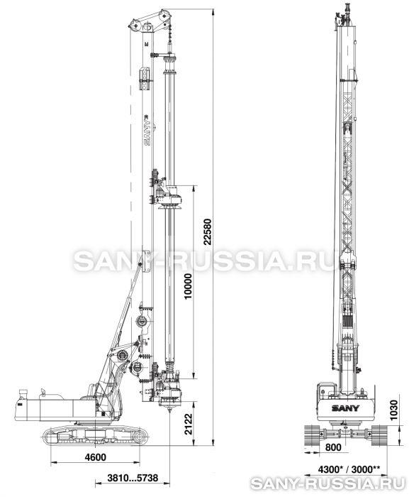 Буровая установка SANY SR250M с келли-штангой
