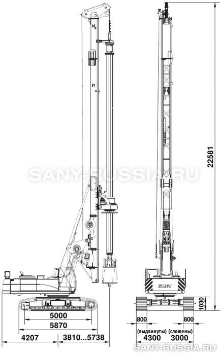 Буровая установка SANY SR250R