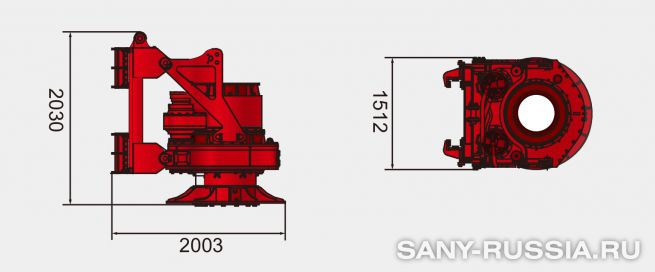 Привод ротора буровой установки SANY SR260R