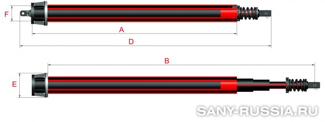 Фрикционная келли-штанга для SANY SR260R