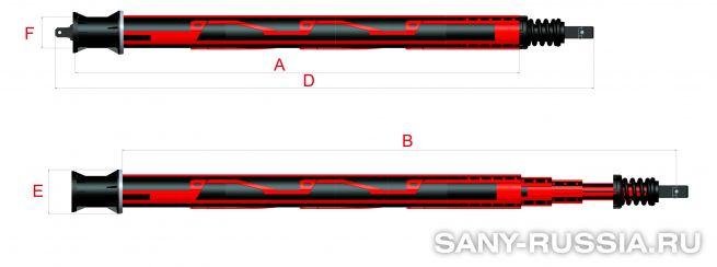 Келли-штанга замкового типа для SANY SR260R
