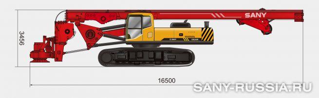 Буровая установка SANY SR260R в транспортном положении