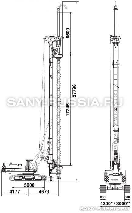 Буровая установка SANY SR280M CFA