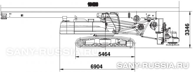 Буровая установка SANY SR280M в транспортном положении