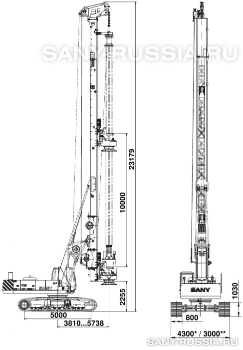 Буровая установка SANY SR280M с келли-штангой