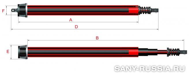 Фрикционная келли-штанга для SANY SR280R II