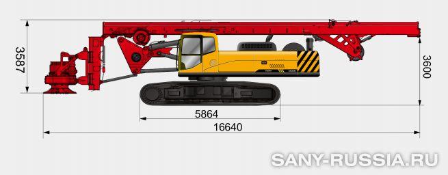 Буровая установка SANY SR280R II в транспортном положении