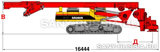 Буровая установка SANY SR280R в транспортном положении