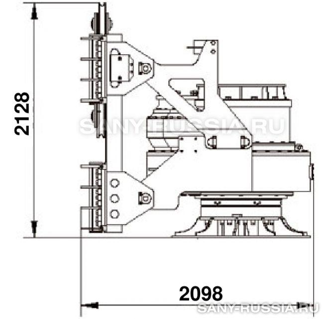 Привод ротора буровой установки SANY SR360 II