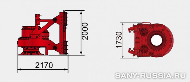 Привод ротора буровой установки SANY SR360 III