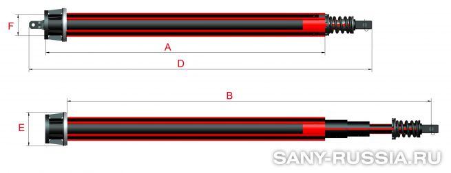 Фрикционная келли-штанга для SANY SR360 III